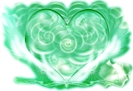 Bild des Emerald Heart Lichts. Copyright: David Ashworth, Spiritueller Lehrer.